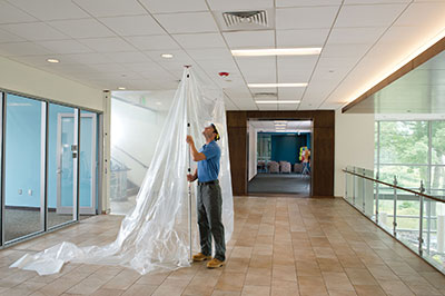 Keep Construction Dust Contained With Zipwall 174 Dust Barriers